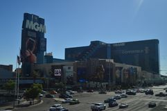 Hotels und Shops auf dem Las Vegas-Streifen am 26. Juni 2017 Reise Holydays Stockbilder