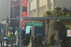 Hotels und Shops auf dem Las Vegas-Streifen am 26. Juni 2017 Reise Holydays Lizenzfreie Stockfotografie