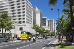 Hotels at waikiki beach Royalty Free Stock Photography