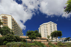 Hotels zone in Funchal, Madeira royalty free stock photo