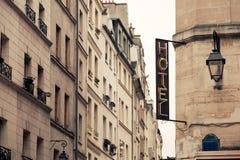 Hotelschild Stockbilder