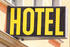 Hotelsign Stock Images