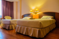 Hotelslaapkamer Royalty-vrije Stock Afbeelding