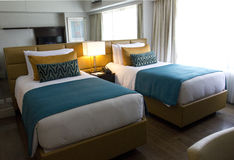 Hotelslaapkamer Stock Afbeelding