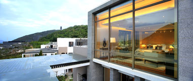 Hotelstandort Chinas Sanya Stockbild