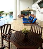HotelSwimmingpool Lizenzfreie Stockfotos