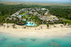 Hoteltoevlucht dichtbij strand Royalty-vrije Stock Foto's