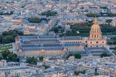 Hotelu des Invalides Paryż Francja Zdjęcia Stock