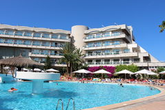 Hotelu i basenu widok Obraz Stock
