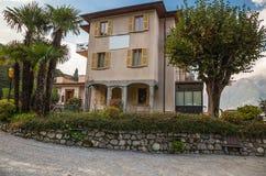 Hotelu Il Perlo panorama, Bellagio, Jeziorny Como, Włochy Zdjęcia Royalty Free