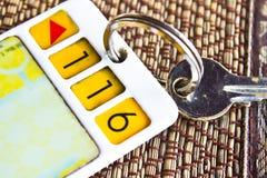 Hotelu klucz Obraz Royalty Free