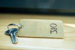 Hotelu klucz Obrazy Stock