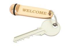 Hotelu klucza powitanie, 3D rendering Obraz Stock