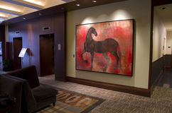 Hotelu 1000 lobby Obrazy Stock