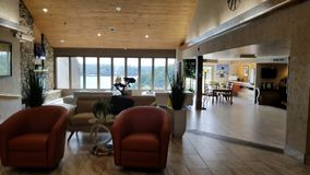 Hotelu lobby przy jeziorem Ozarks Zdjęcia Royalty Free