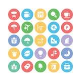 Hotelu & restauraci Barwione Wektorowe ikony 14 Obraz Royalty Free