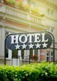 Hotelu znaka Pięć gwiazdy Zdjęcia Royalty Free