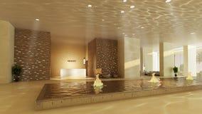 Hotelvorhalle lizenzfreie abbildung