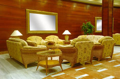 Hotelvorhalle Stockbild