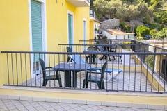 Hotelzaal met Balkon Royalty-vrije Stock Afbeelding