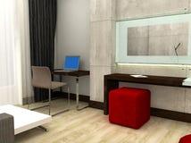 Hotelzimmer 3D Lizenzfreie Stockfotografie