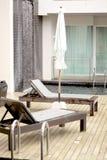 Hotelzimmer mit privatem Pool Lizenzfreies Stockbild