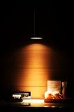 Hotelzimmer-Schreibtisch Stockfoto