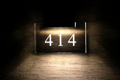 Hotelzimmer-Zahl Stockbild