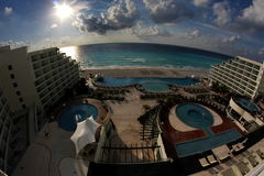 Hotelzimmeransicht lizenzfreie stockfotografie