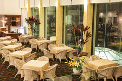 Hotelzitkamer en Bar Royalty-vrije Stock Afbeelding