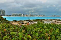 Hotelzone in Cancun, Mexiko Lizenzfreies Stockbild