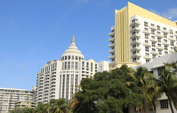 Hotesl auf Südstrand Miami stockfoto