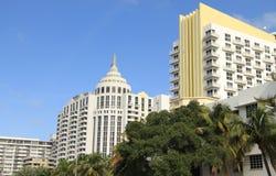 Hotesl op het Strand Miami van het Zuiden stock foto
