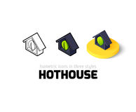 Hothouse icon in different style Royalty Free Stock Images