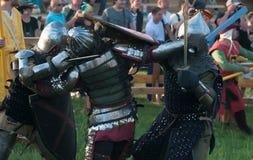 HOTIN, de OEKRAÏNE - Mei 2013: Het derde internationale festival van historische wederopbouw van de Middeleeuwen Royalty-vrije Stock Afbeelding