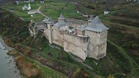 Hotin slott i den Chernivetska regionen, Ukraina Royaltyfri Fotografi