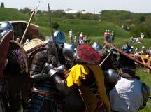 HOTIN, UCRÂNIA - em maio de 2013: O terceiro festival internacional da reconstrução histórica da Idade Média Fotos de Stock