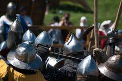 HOTIN, UCRÂNIA - em maio de 2013: O terceiro festival internacional da reconstrução histórica da Idade Média Foto de Stock Royalty Free