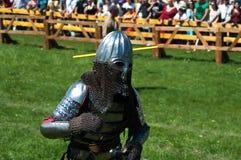 HOTIN, UCRÂNIA - em maio de 2013: O terceiro festival internacional da reconstrução histórica da Idade Média Imagem de Stock