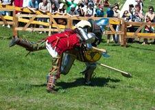 HOTIN, UCRÂNIA - em maio de 2013: O terceiro festival internacional da reconstrução histórica da Idade Média Imagens de Stock