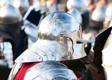 HOTIN, UCRÂNIA - em maio de 2013: O terceiro festival internacional da reconstrução histórica da Idade Média Foto de Stock