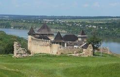 Hotinskaya-Festung Stockfotos