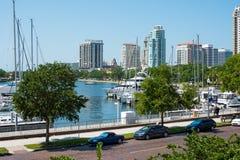 Hotéis de St Petersburg Florida Imagem de Stock