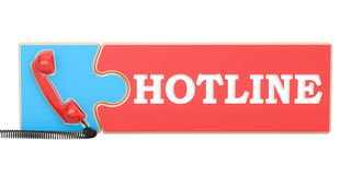 Hotline concept, 3D rendering Stock Images