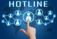 Hotline Stock Photo