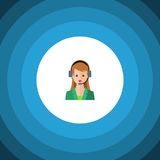 Hotline Flat Icon. Secretary Vector Element Can Be Used For Secretary, Hotline, Human Design Concept. Stock Images