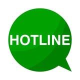 Hotline, Green Speech Bubble Stock Image