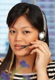 Hotline Medewerker op de Telefoon stock fotografie