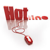 Hotline online Stock Photos