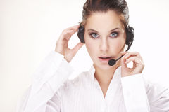 Hotline operator Royalty Free Stock Photo